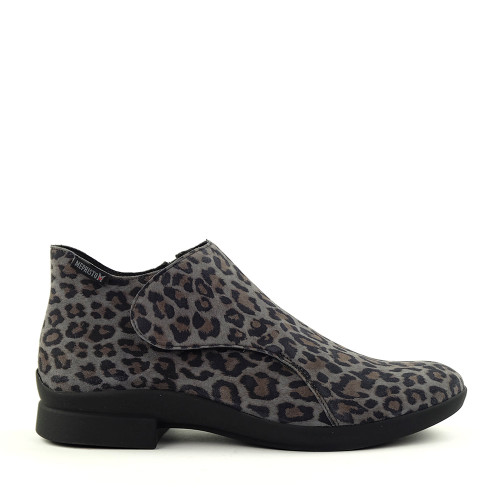 Mephisto Samira Dark Grey Leopard side view - Hanig's Footwear