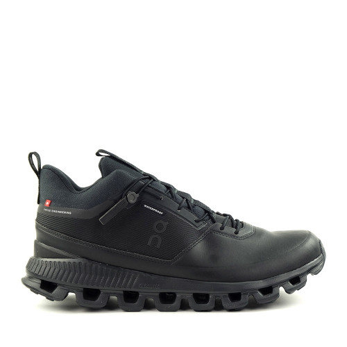 ON running Cloud HI WP Black Mens side view - Hanig's Footwear