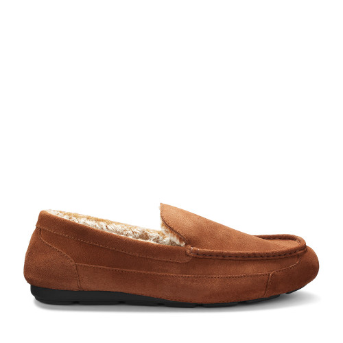 Samuel Hubbard Slipper Mens Nutmeg side view - Hanig's Footwear