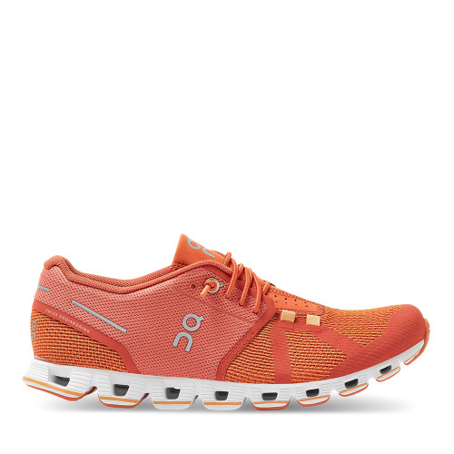 On Running Women's Cloud Shoe Chili Rust side view — Hanig's Footwear