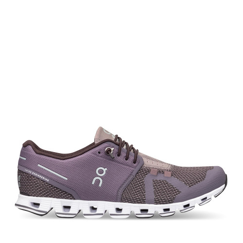 On Running Women's Cloud Shoe Shark Pebble side view — Hanig's Footwear