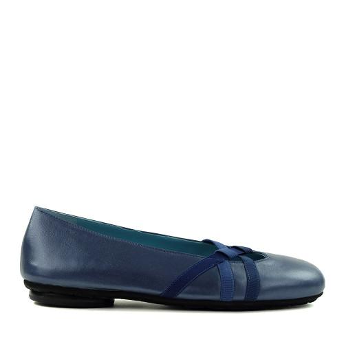 Thierry Rabotin Gaeta 2400 Blue Taffetas side view - Hanig's Footwear