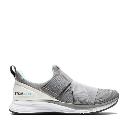 TIEM Shoes Womens training shoe Latus cloud gray side view - Hanig's Footwear