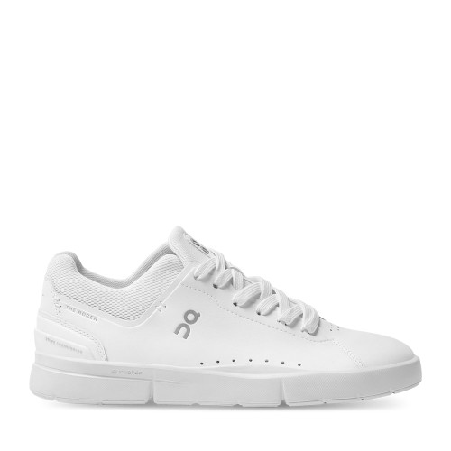 ON Running Roger Advantage All White Womens side view | Hanig's Footwear