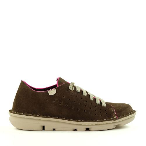 On Foot 30200 Marrone/Pink side view - Hanigs Footwear
