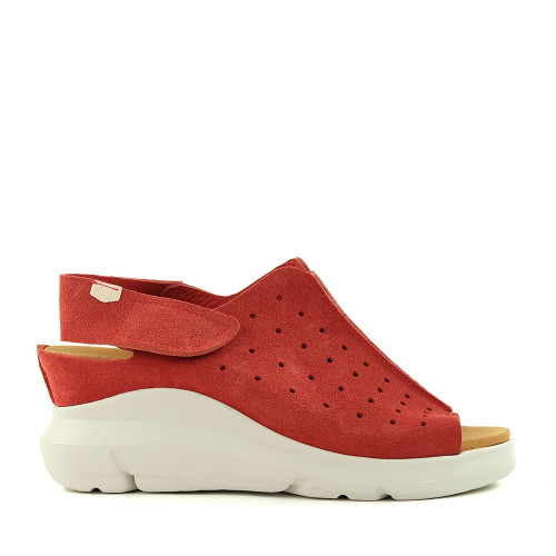 On Foot 80005 Red side view - Hanigs Footwear
