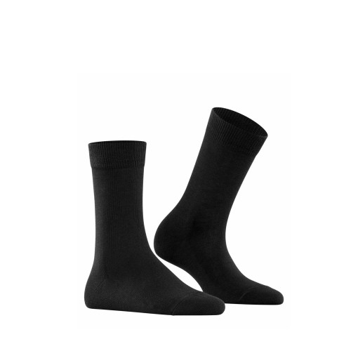 Falke Family Women Socks in black side view - Hanig's Footwear