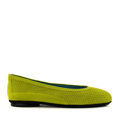Thierry Rabotin Genie 7445 Chartreuse side view - Hanig's Footwear