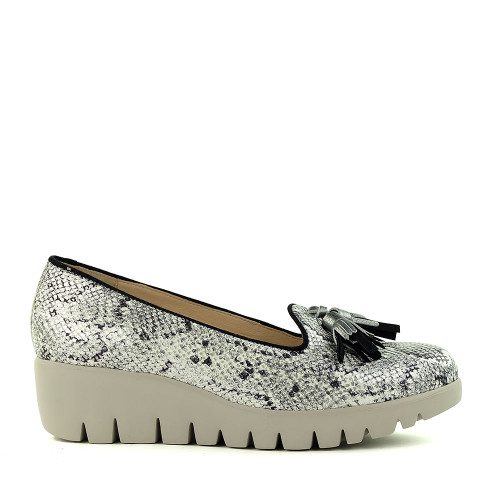 Wonders C-33241 Mexico Snake White side view - Hanig's Footwear