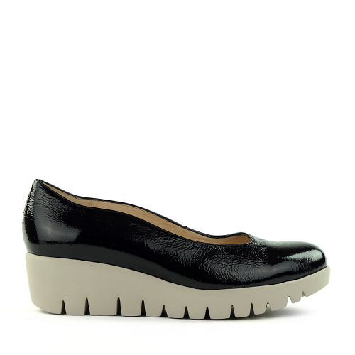 Wonders C-33242 Black Leather side view - Hanig's Footwear