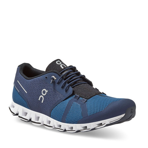 ON Running Cloud Midnight Ocean Men angle view - Hanig's Footwear
