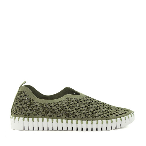 Ilse Jacobsen Tulip 139 Army Green side view - Hanig's Footwear