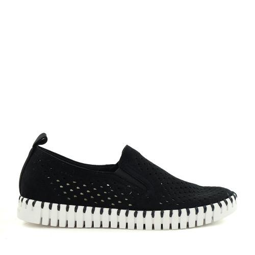 Ilse Jacobsen Tulip 140 black side view - Hanig's Footwear