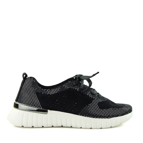Ilse Jacobsen Tulip 4075 black side view - Hanig's Footwear