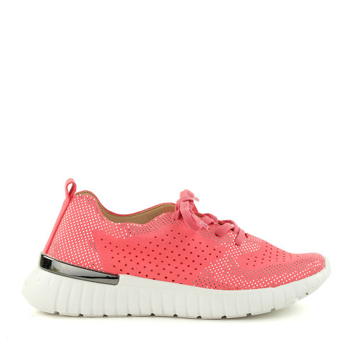 Ilse Jacobsen Tulip 4075 Raspberry side view - Hanig's Footwear