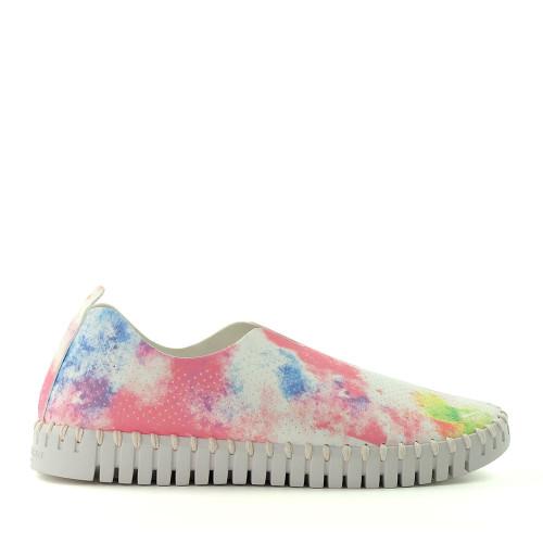 Ilse Jacobsen Tulip 139TD Geranium Tie Dye side view - Hanig's Footwear