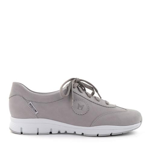 Mephisto Yael Light Grey side view - Hanig's Footwear
