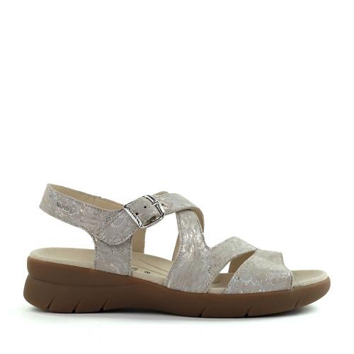 Mephisto Eva Sandal sand side - Hanig's Footwear