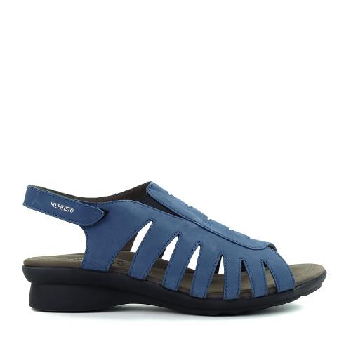 Mephisto Praline Denim sandal side - Hanig's Footwear