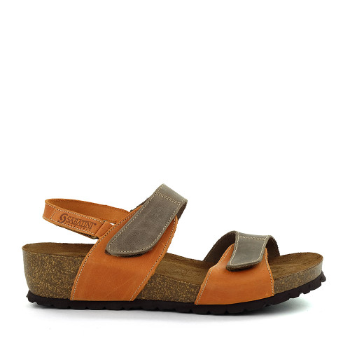 Sabatini 4006 Orange Sandal side view - Hanigs Footwear