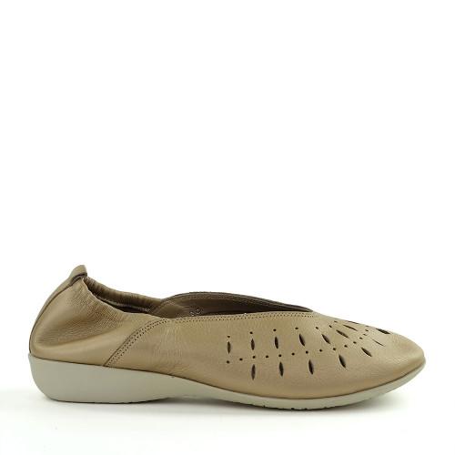 Hirica Louise Beige Bahia side view - Hanig's Footwear