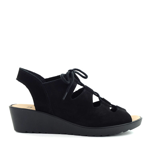 Hirica Blandine Black side view - Hanig's Footwear