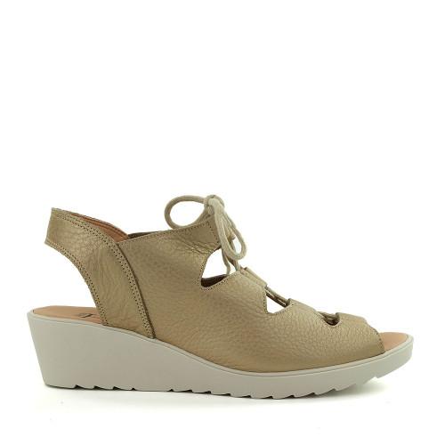 Hirica Blandine Beige Bahia side view - Hanig's Footwear