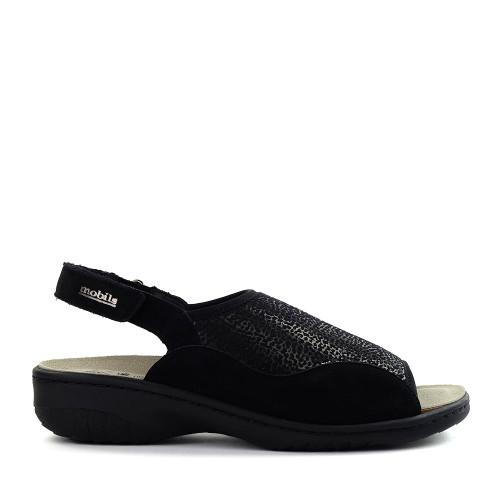 Mephisto Gisella Sandal Black side - Hanig's Footwear