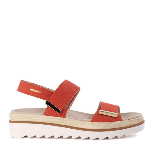 Mephisto Dominica Terracotta red side - Hanig's Footwear
