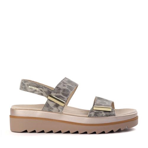 Mephisto Dominica Savannah Grey side - Hanig's Footwear
