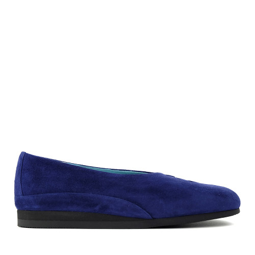Thierry Rabotin Grace 7410S99 Blue Suede side view - Hanig's Footwear