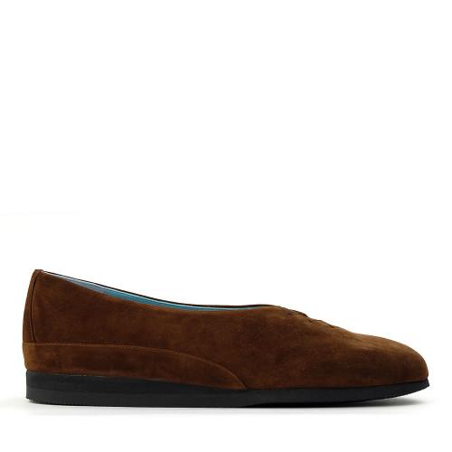 Thierry Rabotin Grace 7410S99 Brown Suede side view - Hanig's Footwear