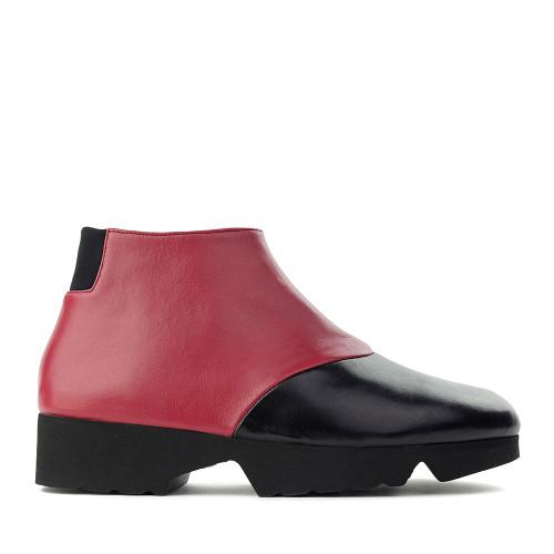 Thierry Rabotin Gaggio 2414H Black/Red Taffetas side view - Hanig's Footwear