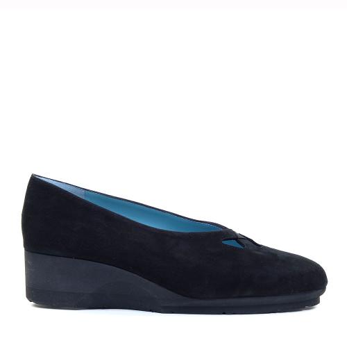 Thierry Rabotin Zeta 1436 Black Suede side view - Hanig's Footwear
