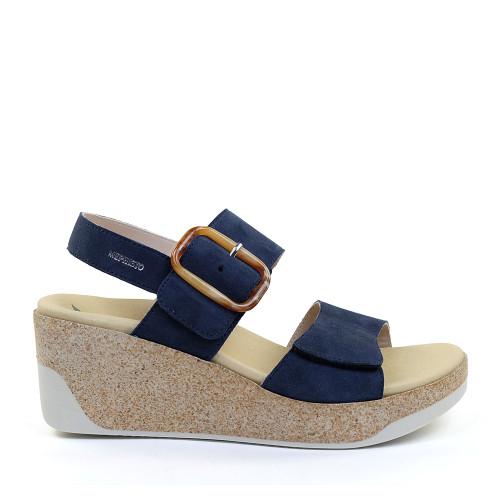 Mephisto Giulia Navy side view - Hanigs Footwear