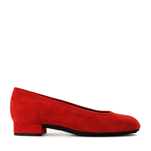 Thierry Rabotin Nabk S300 Red Suede side view - Hanig's Footwear
