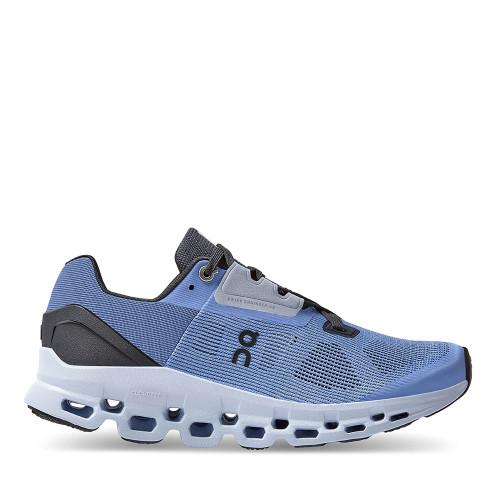 ON Running Cloudstratus Azure Womens side view - Hanig's Footwear