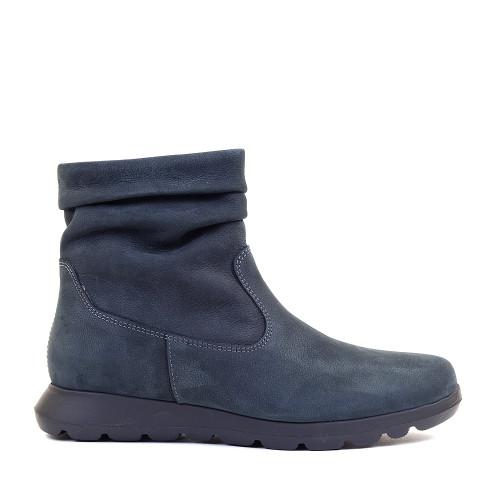 Softies Bootie 7205 Black Nubuck side view — Hanigs Footwear