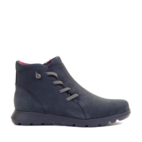 Softies 7907 Black Nubuck side view — Hanigs Footwear