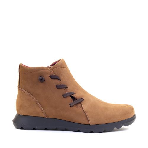 Softies 7907 Bootie Light Brown Nubuck side view — Hanigs Footwear