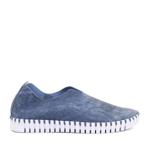 Ilse Jacobsen Tulip Bleached Dark Blue side | Hanigs Footwear