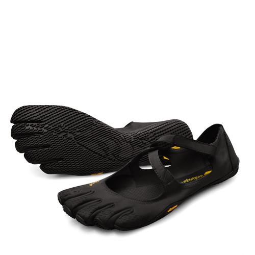 Vibram V-Soul Black Womens side view - Hanig's Footwear