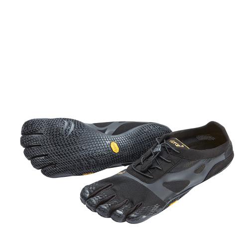 Vibram KSO EVO Black Mens angle view - Hanig's Footwear