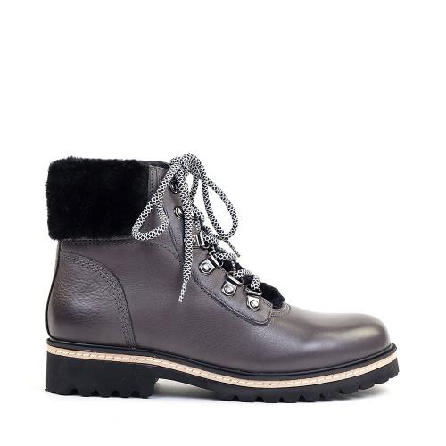 Regarde le Ciel Brandy-01 Grey side view - Hanig's Footwear