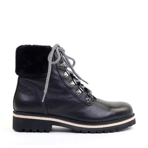 Regarde le Ciel Brandy-01 Black side view - Hanig's Footwear