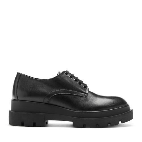 La Canadienne Bowen Black Leather side view - Hanig's Footwear