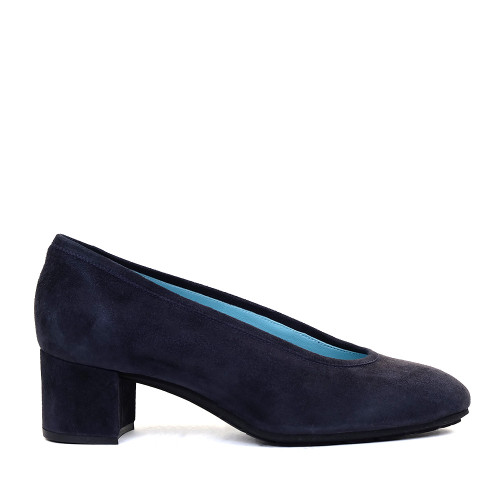 Thierry Rabotin S100 Navy Suede side view - Hanig's Footwear
