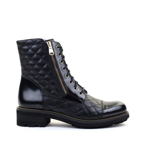 Ron White Tiffany Onyx Leather side view - Hanig's Footwear