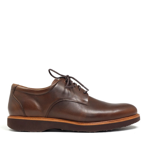 Samuel Hubbard Founder Plain Toe Brown side view
