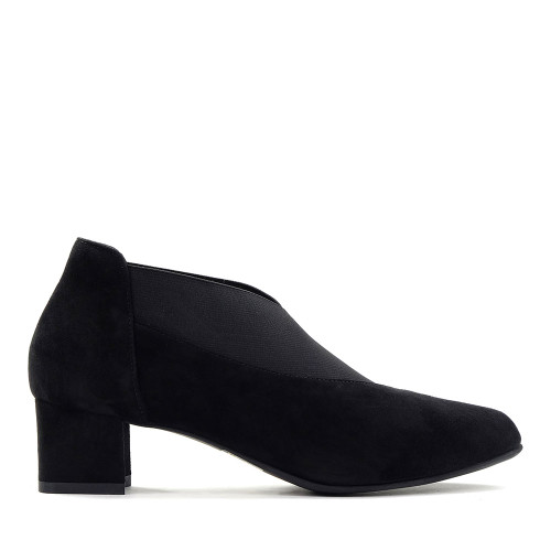 Beautifeel Gia Black Suede side view - Hanig's Footwear